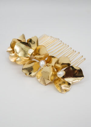 Golden Hydrangea Comb by Victoria Louise