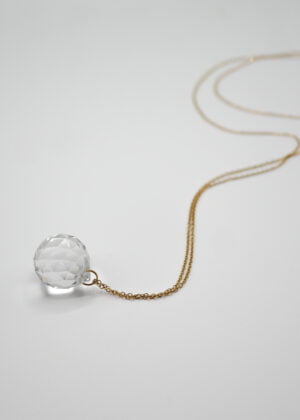 Crystal Ball Necklace by Victoria Louise