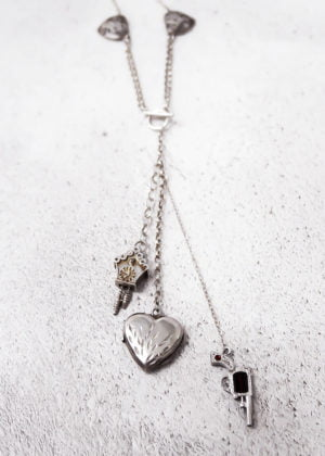 'Fine' Silver Yours & Mine Vintage Necklace by Victoria Louise