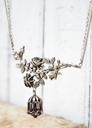 Vintage Birdcage Necklace by Victoria Louise
