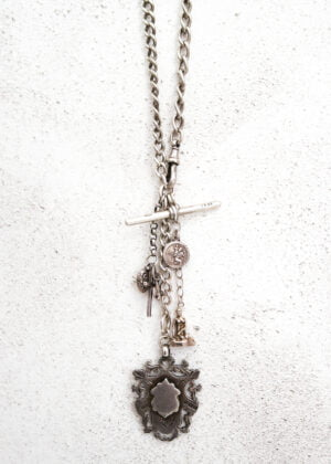 Unisex Antique Solid Silver Fob Chain by Victoria Louise
