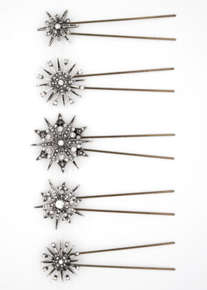 Silver Celestial Hairpins by Victoria Louise
