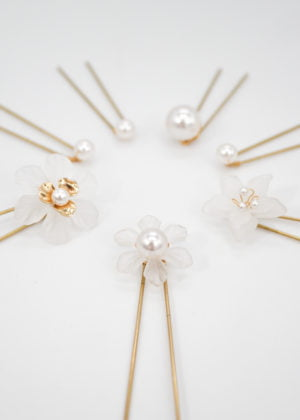 Floral luxe hairpins by Victoria Louise