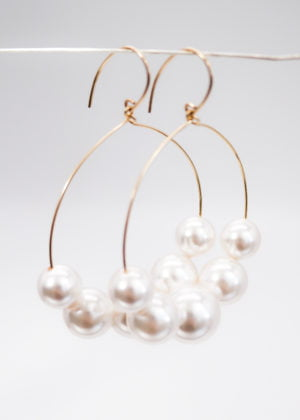 Lustrous statement Earrings by Victoria Louise
