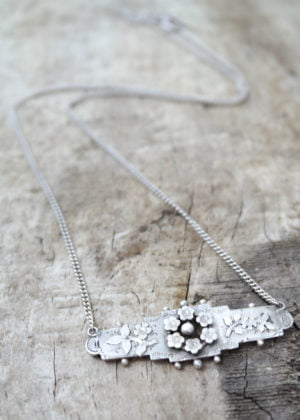 'Fine' Silver Antique Victorian Sweetheart Necklace by Victoria Louise