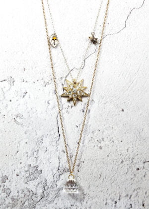 Vintage Celestial Mixed Metal Necklace by Victoria Louise