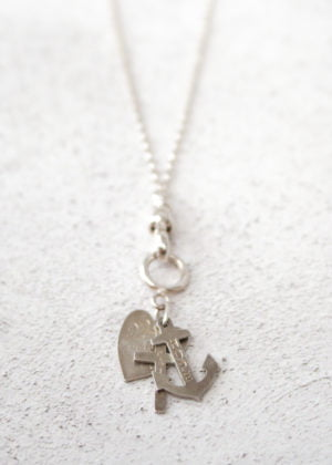 'Fine' Silver Vintage Faith, Hope & Charity Necklace by Victoria Louise
