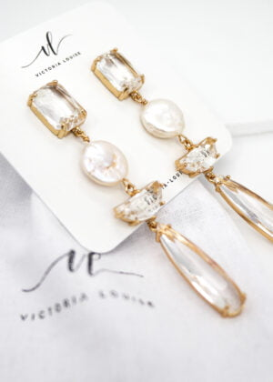 Lush Pearl Drop Earrings by Victoria Louise