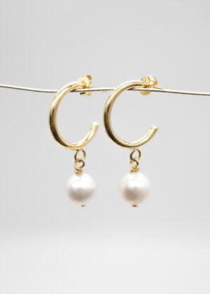 Small Gold Hoop Earrings by Victoria Louise
