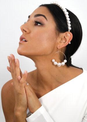 Lustrous Swarovski Pearl Earrings by Victoria Louise