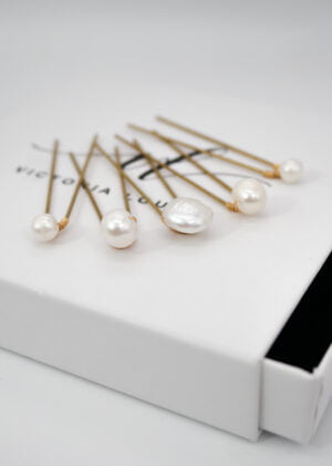 Freshwater Pearl Hairpins by Victoria Louise