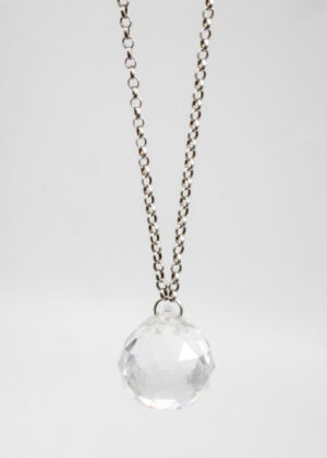 Sterling Silver 'Crystal Ball' Necklace by Victoria Louise