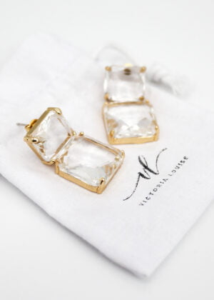 Ice Stud Earrings by Victoria Louise