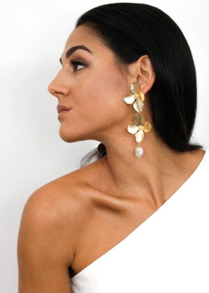 Hydrangea statement earrings by Victoria Louise
