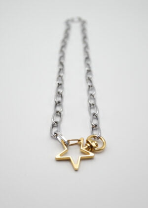 Chunky Star Paperclip Necklace by VICTORIA LOUISE