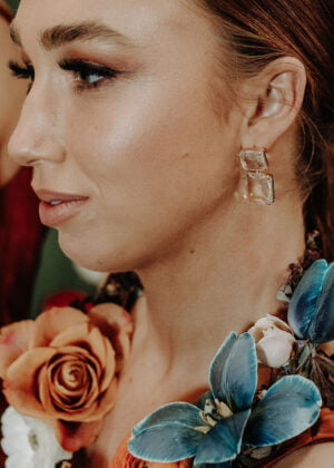'Ice' Stud Earrings by Victoria Louise