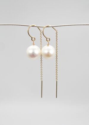 Freshwater pearl drop earrings by Victoria Louise