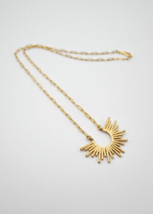 'Sunny' Matt Gold Necklace by Victoria Louise