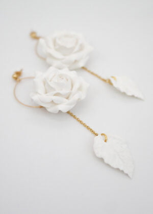 Rose Earrings by Victoria Louise
