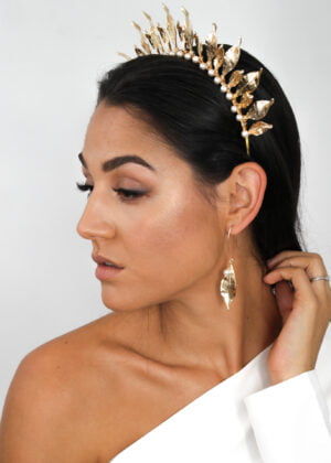 Gilded Leaf Earrings by Victoria Louise