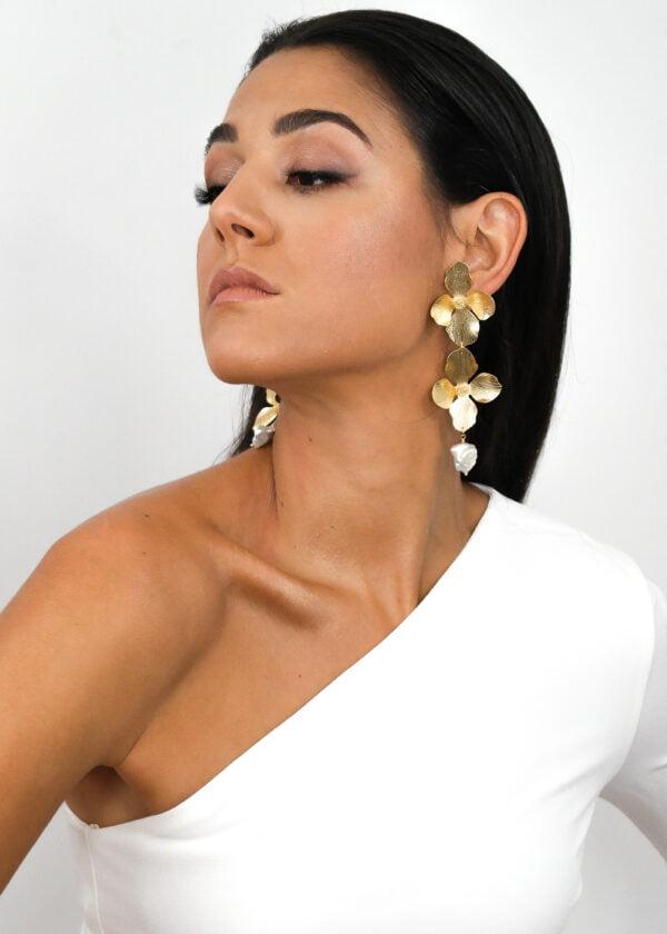 Hydrangea statement earrings by Victoria Louise