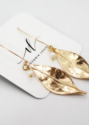 Gilded Leaf Earrings | Gift by Victoria Louise