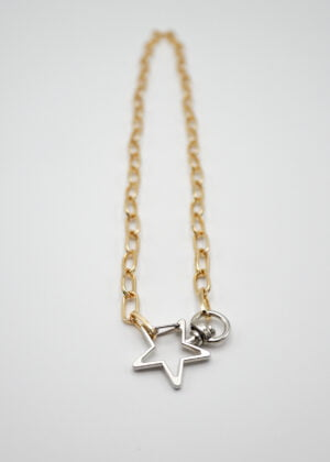 Chunky Star Paperclip Chain by Victoria Louise