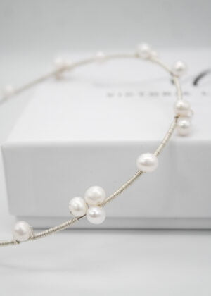 Freshwater 'Pearl Cluster' headband by Victoria Louise