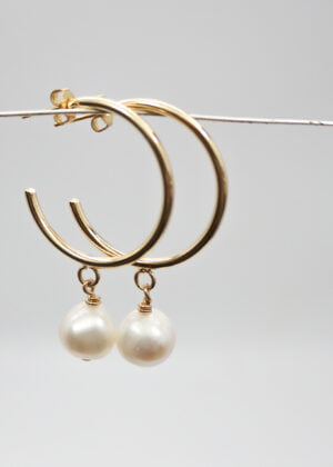 Large Gold Hoop Earrings | Gift by Victoria Louise